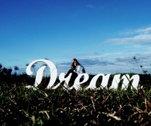 Dream, girl, and sky image