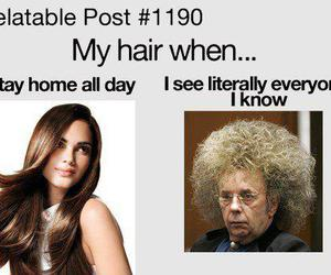 hair, funny, and true image