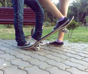 love, skate, and boy image