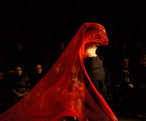 red, fashion, and veil image
