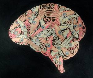 brain, illustration, and octopus image