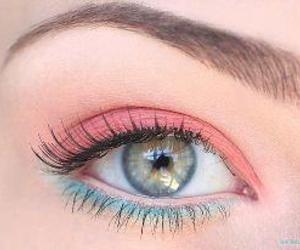 pink, blue, and eye image