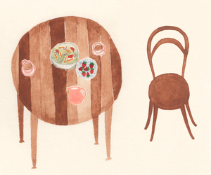 brown, chair, and cups image