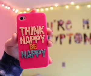 happy, pink, and iphone image