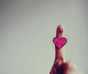 love, finger, and heart image