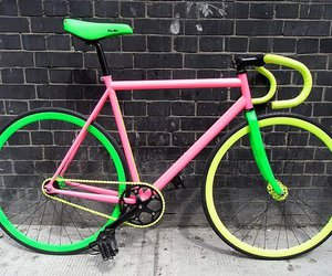 bicycle, green, and pink image