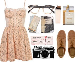 fashion, glasses, and oxford shoes image