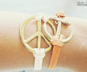 anchor, bracelet, and peace image
