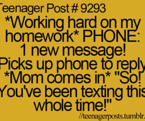 funny, phone, and homework image