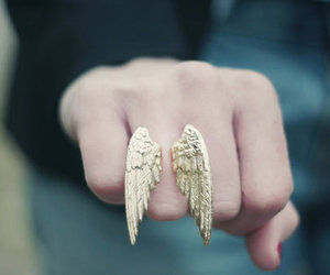ring, wings, and angel image