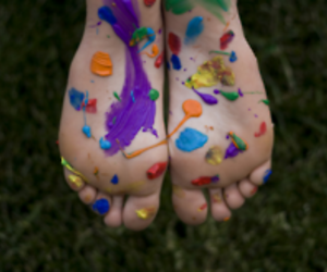 feet and color image