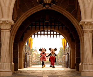 disney, minnie, and mickey image