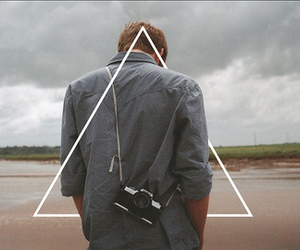 triangle, camera, and hipster image