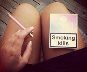 pink, smoke, and sobranie image