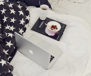 chanel, macbook, and stars image