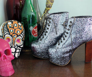 glitter, fashion, and shoes image
