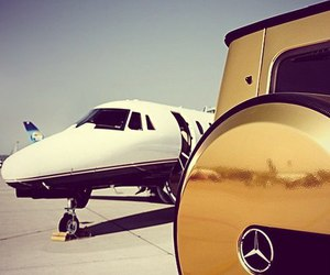 car, mercedes, and plane image
