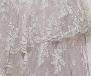 lace, dress, and pink image