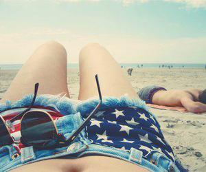 beach, summer, and shorts image