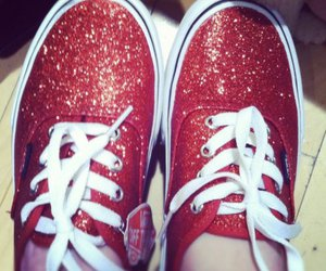 cute shoes, vans, and glitter image