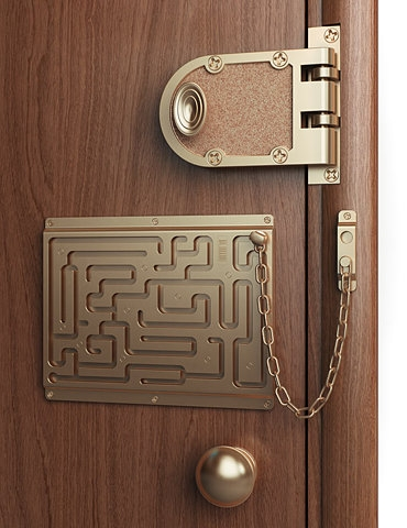 funny, door, and lock image