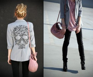 fashion, skull, and purse image
