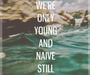 quote, young, and naive image