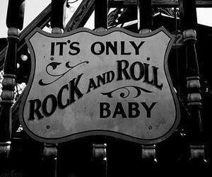 rock, rock and roll, and black and white image