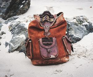 bag, vintage, and backpack image