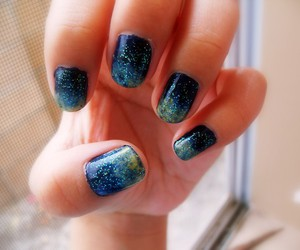 nails, blue, and space image