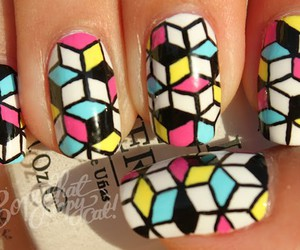 nails, colorful, and fashion image
