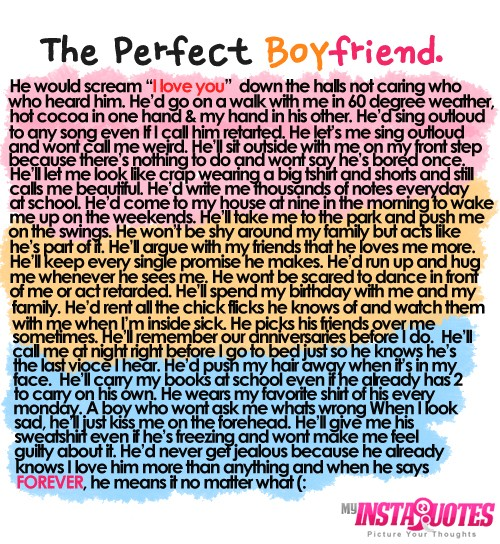 The Perfect Boyfriend - Quotes, Sayings and Images ...