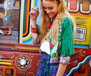 bright, hippie, and patterns image