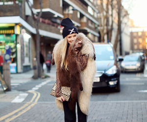 girl, fashion, and fur image