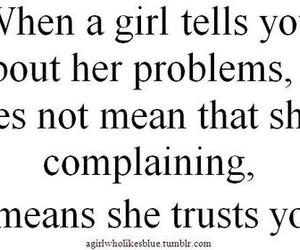 girl, problems, and tell image