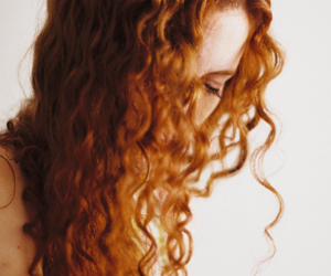 curly, hair, and redhead image