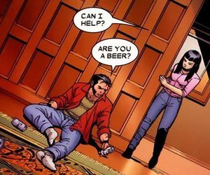 beer, funny, and wolverine image