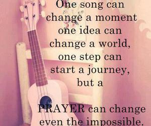 quote, prayer, and song image