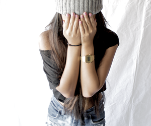 girl, beanie, and swag image