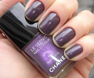 nails, chanel, and purple image