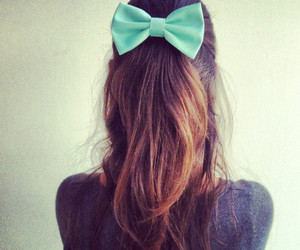 hair, bow, and style image