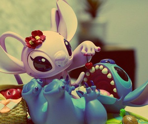 love, disney, and stich image