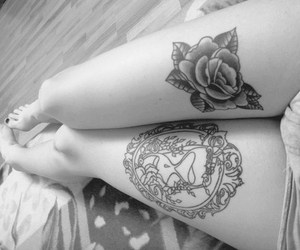 bed, flower, and skinny image
