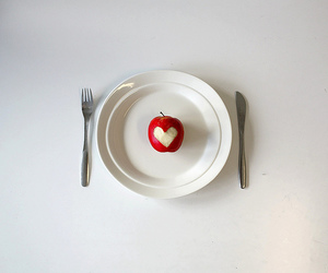heart, apple, and food image