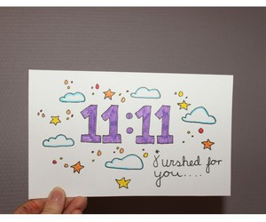 quote, 11:11, and wish image