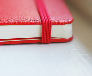 red and moleskine image
