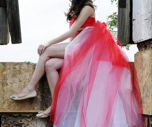 castle, dress, and girl image