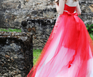 girl, dress, and castle image