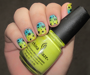 nails, stars, and blue image
