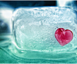 heart, ice, and frozen image